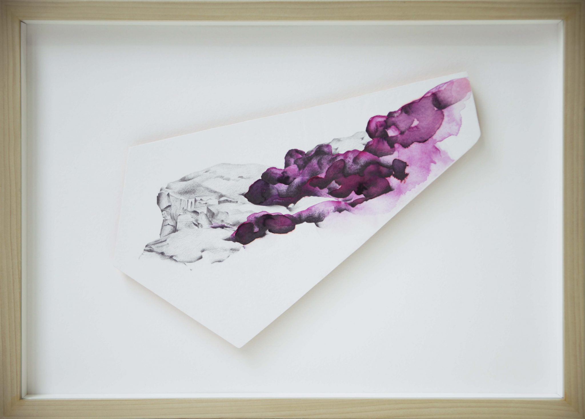 Recolonisation - Pencil, ink, watercolour, paper, gold leaf on plywood