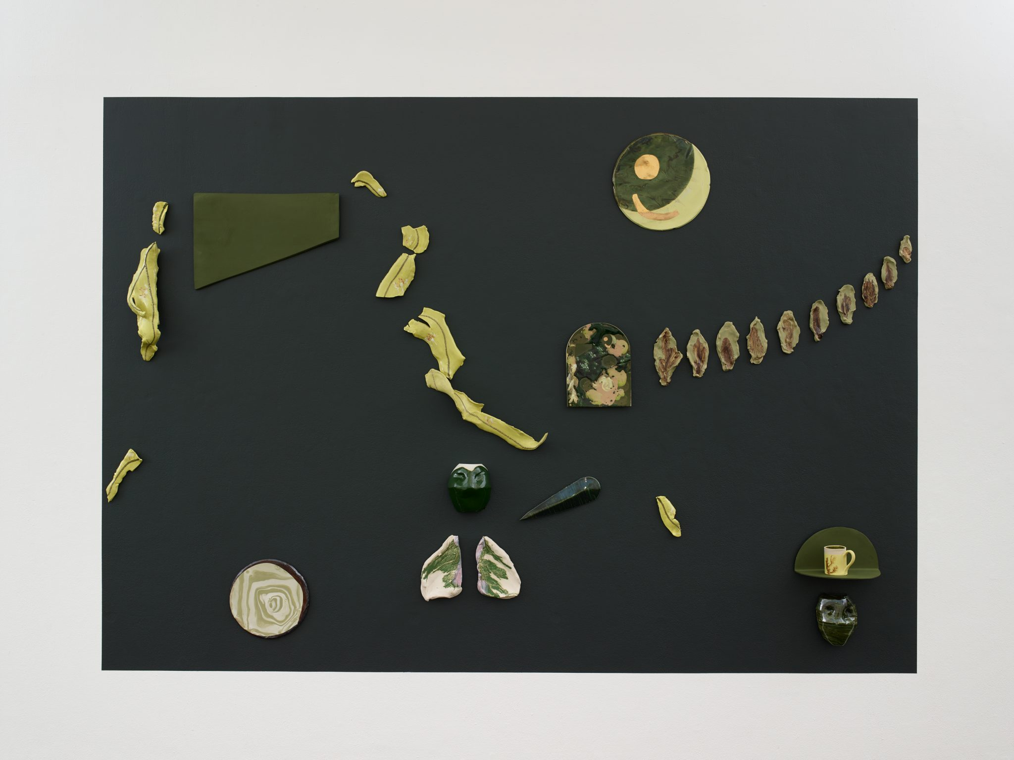 Making all the greens unstable, Jerwood Makers Open, Bethan Lloyd Worthington